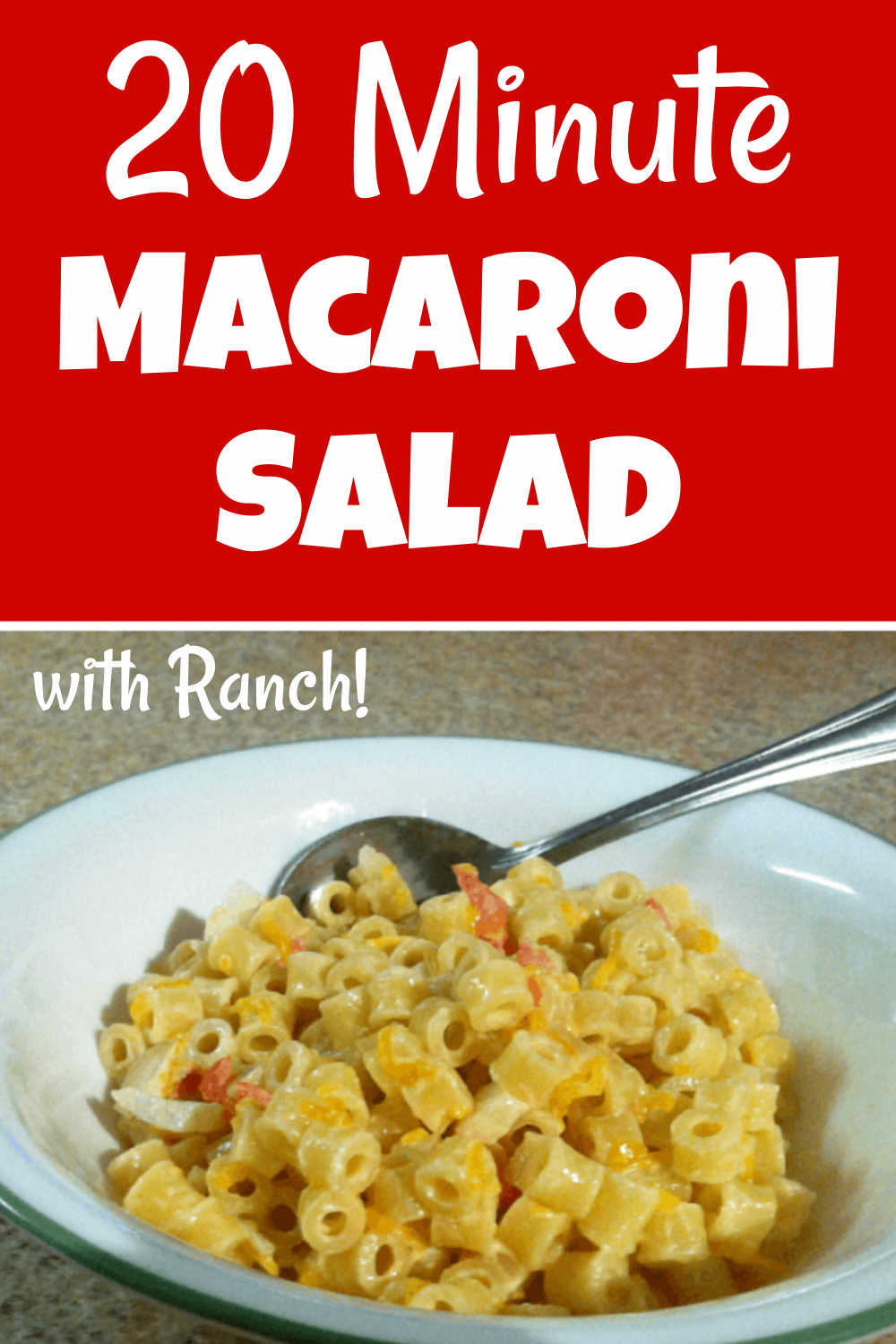 Super Easy and Cheesy Macaroni Salad {20 Minutes}