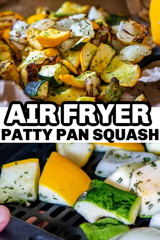 Simple Air Fryer Patty Pan Squash {20 Minutes}