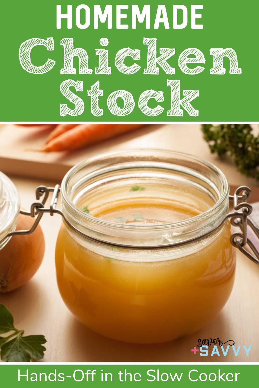 Homemade Crockpot Chicken Stock