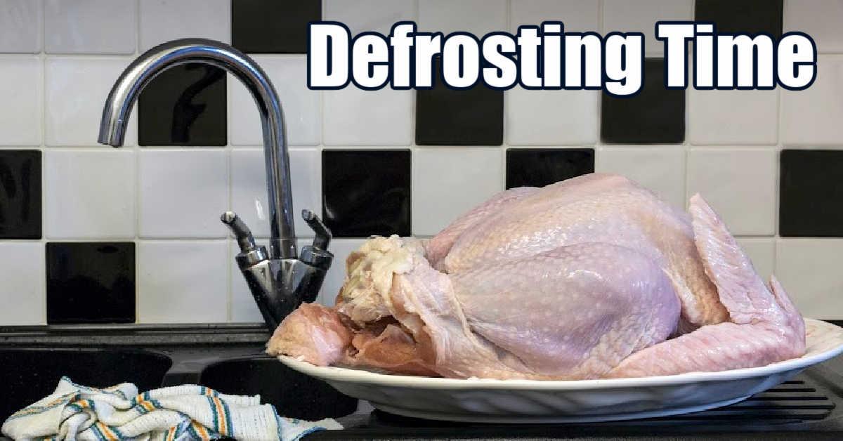 raw turkey on a sink