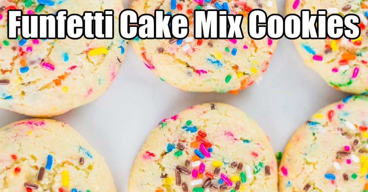 several light and fluffy funfetti cookies