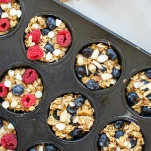 baked oatmeal cups showing meal planning recipes