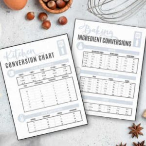 printables used for kitchen conversions