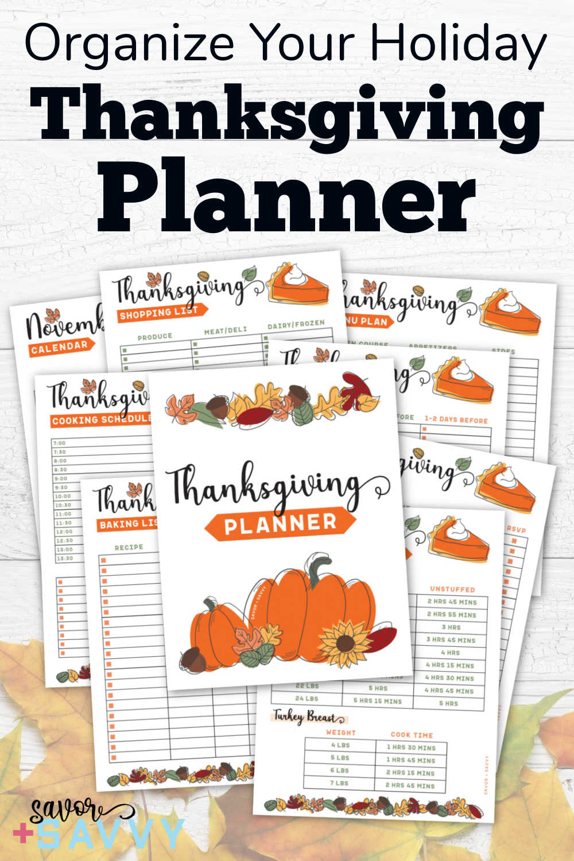 Thanksgiving Printable Planner {Free 10 Page Printables}