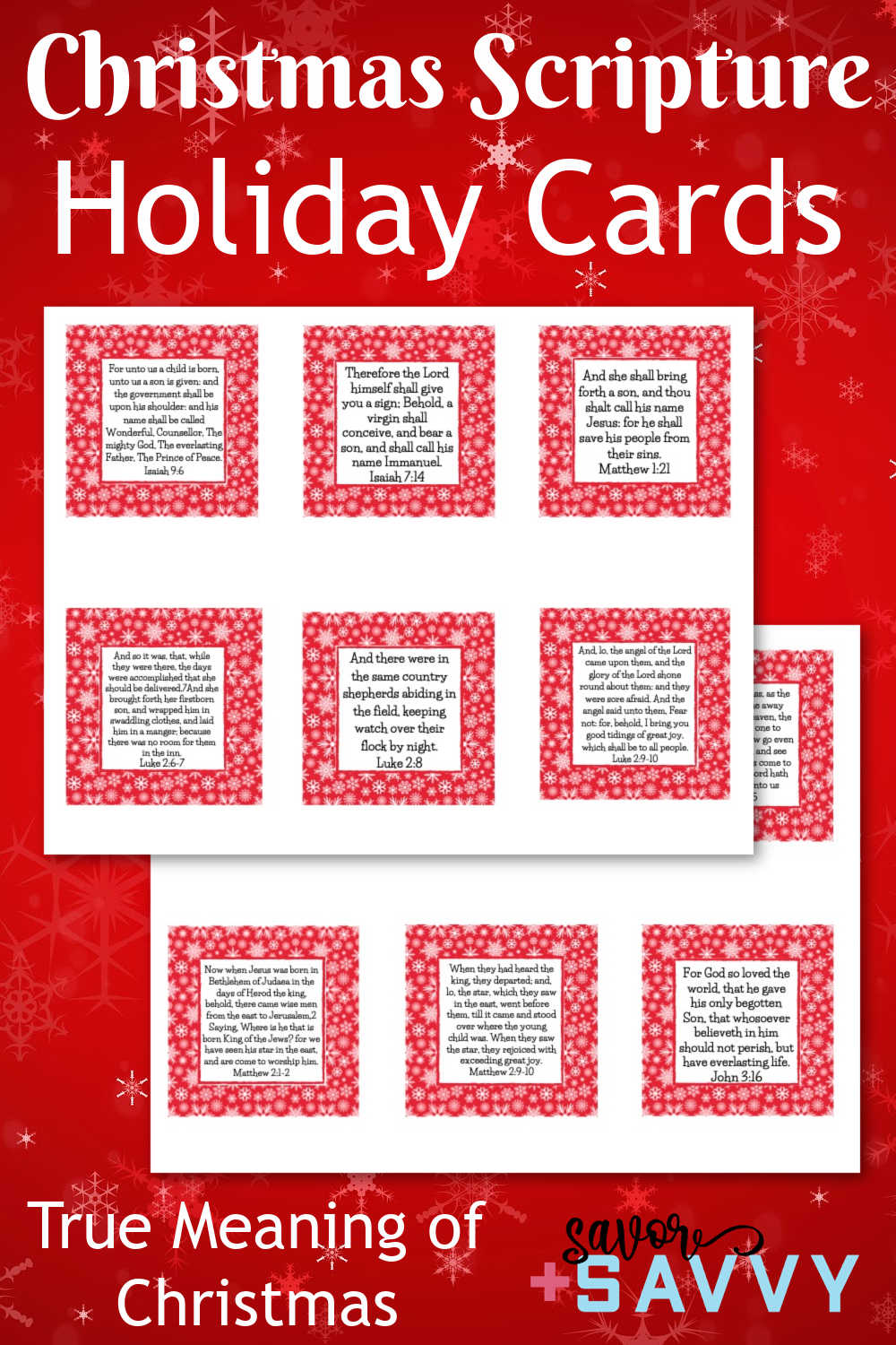 Printable Scripture Cards For Christmas