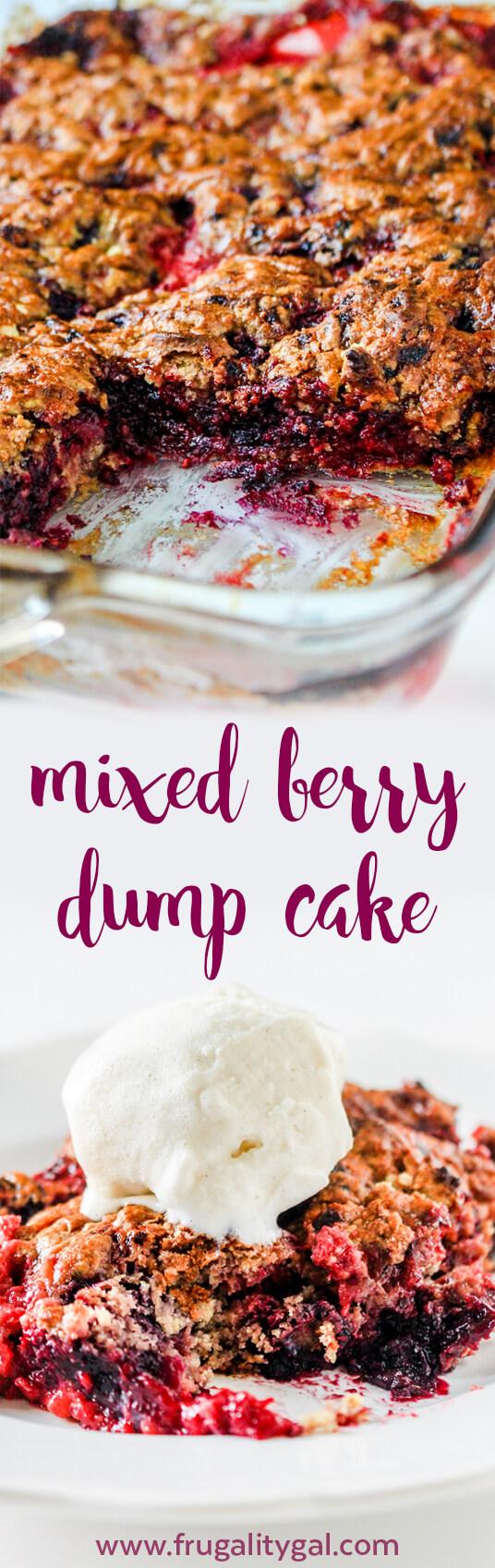 Mixed Berry Dump Cake Recipe