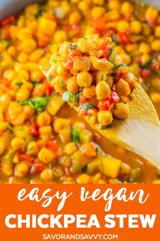 Vegan Stewed Chickpeas