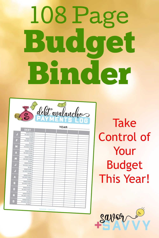 Budget Binder Planner and Worksheets
