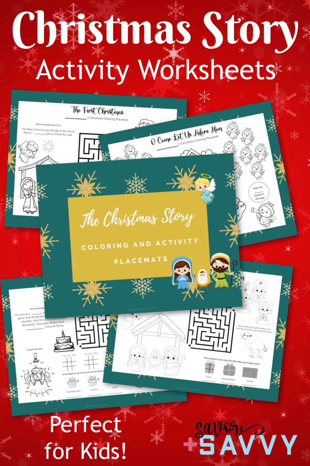 Free Printable Christmas Story Activity Sheets