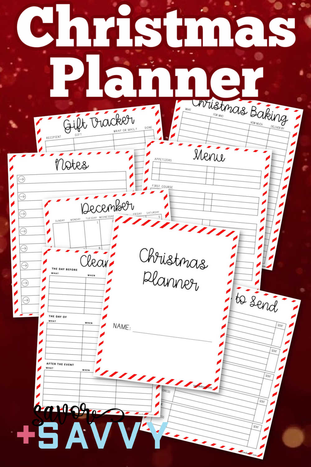 Christmas Planner {23 Pages Free Printables}