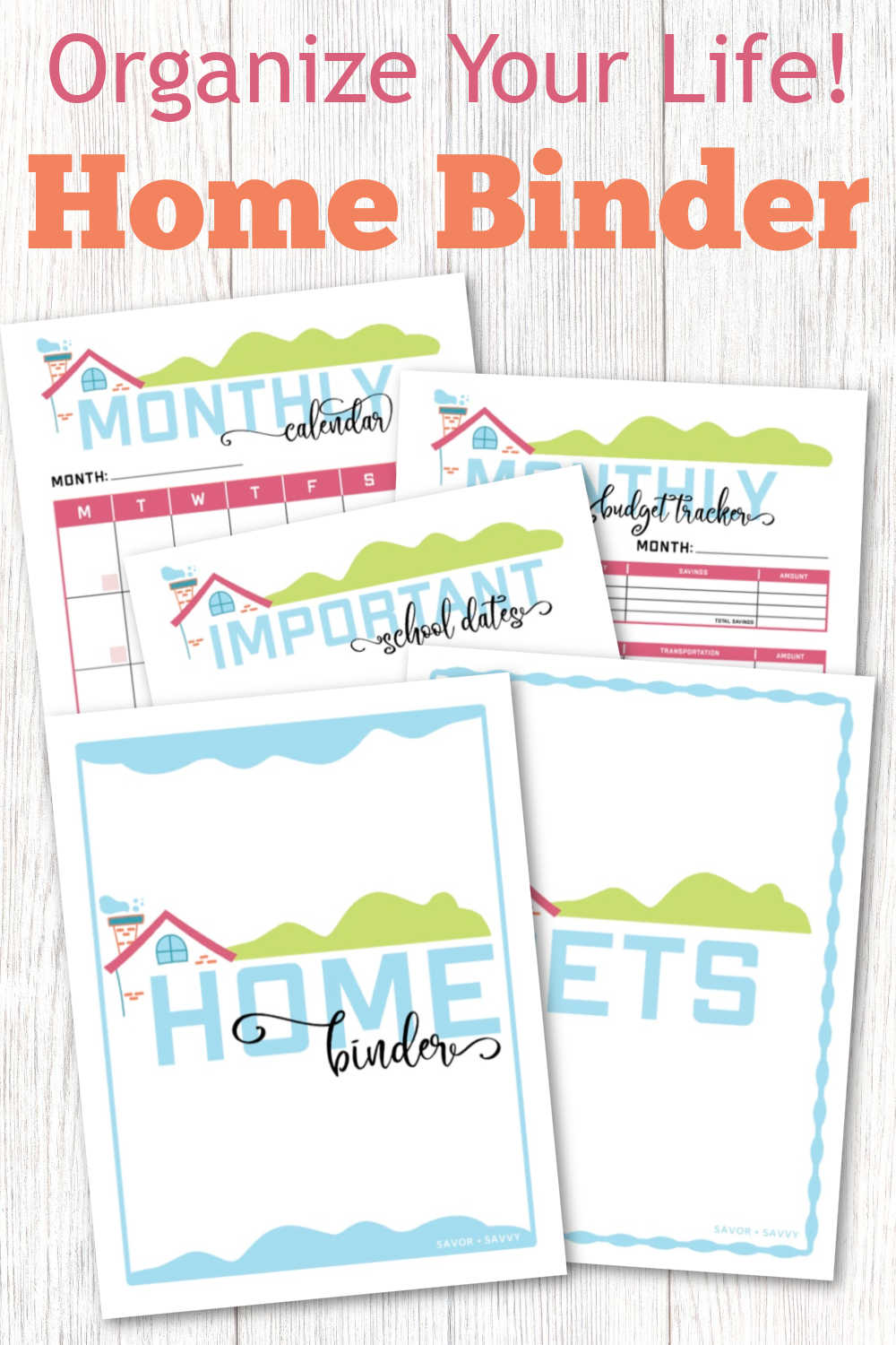 Home Binder and Printables
