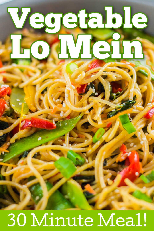 Vegetable Lo Mein {25 Minutes}