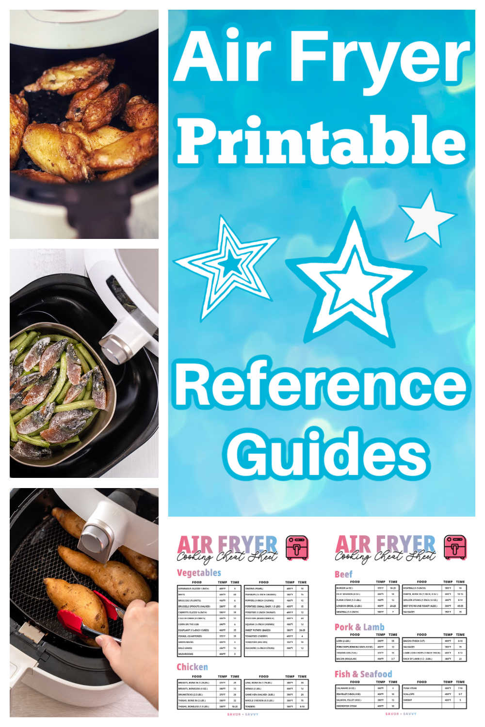 Free Printable Air Fryer Cooking Times Cheat Sheet