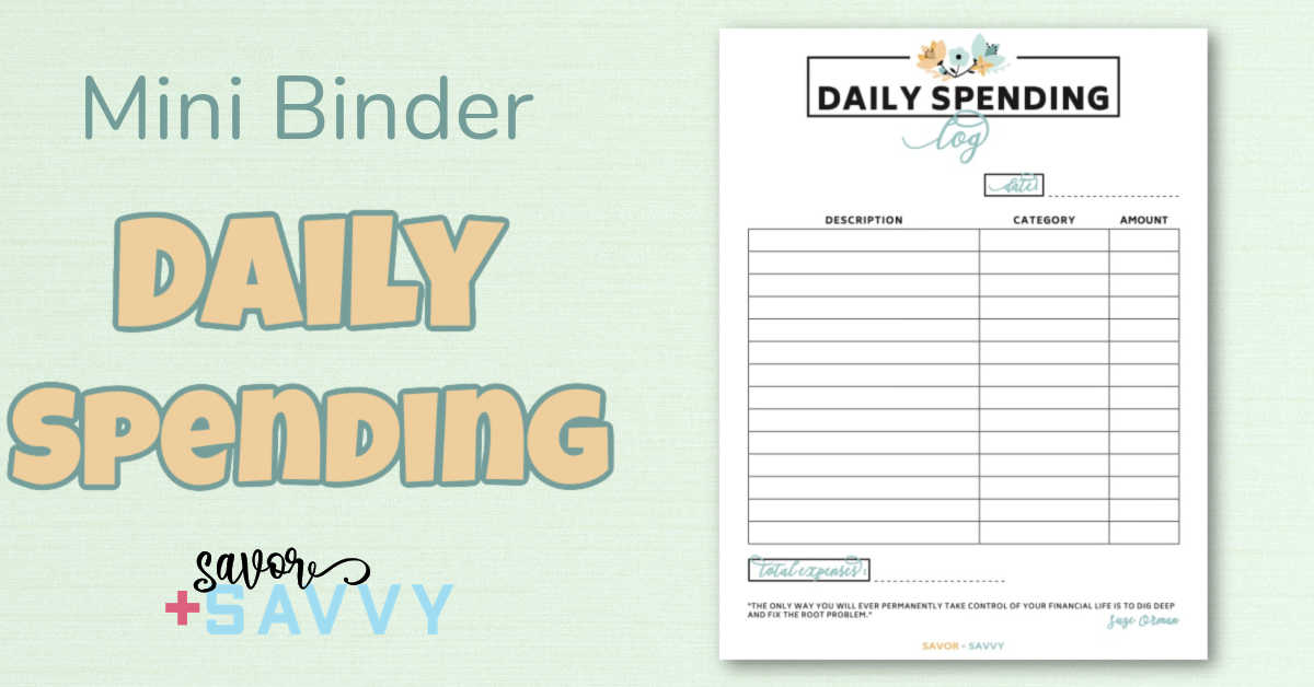 daily spending log is the most powerful free printable.