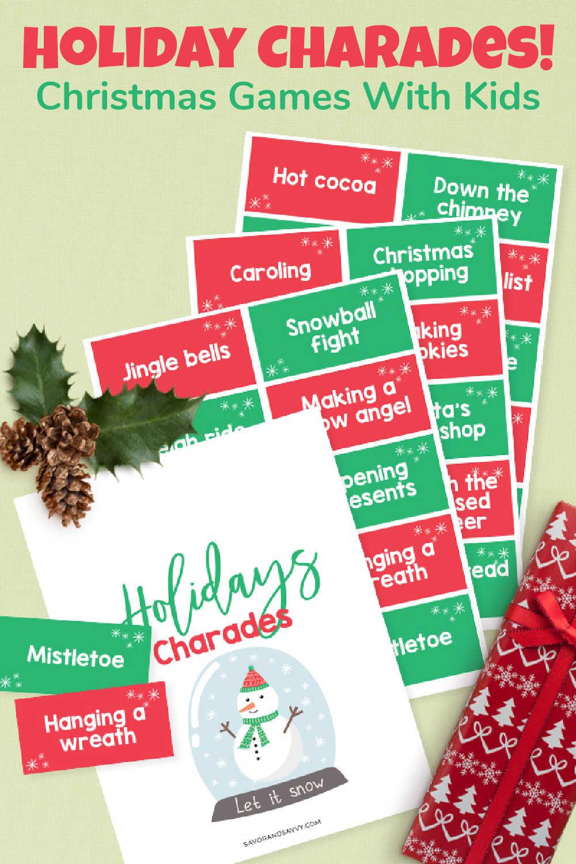 Christmas Charades Party Game {Free Printable}