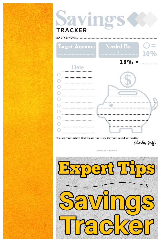 How to Use a Saving Tracker {Free Printable}