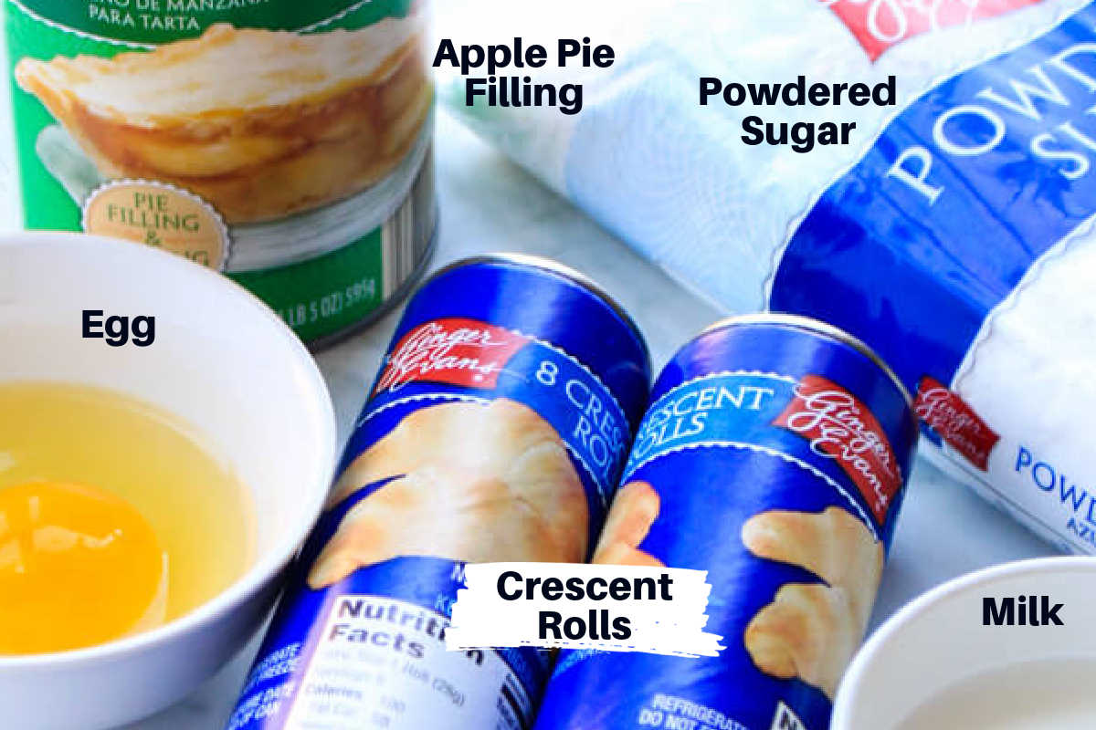 several of the major ingredients with labels laid out on the counter top.