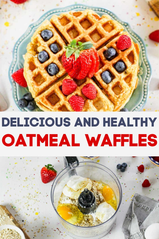 Healthy Oatmeal Waffles Recipe {15 Minutes}