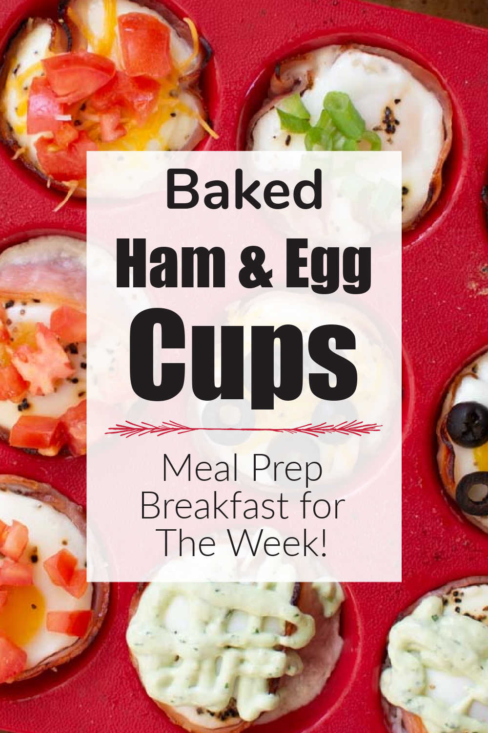 Baked Eggs in Muffin Tins with Ham