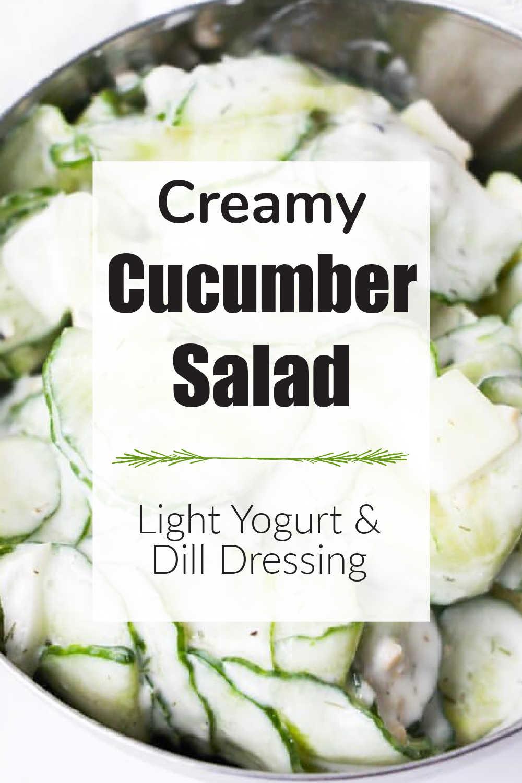 Creamy Cucumber Salad {10 Minutes}