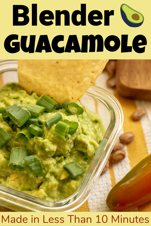 Homemade Blender Guacamole {5 Minutes}
