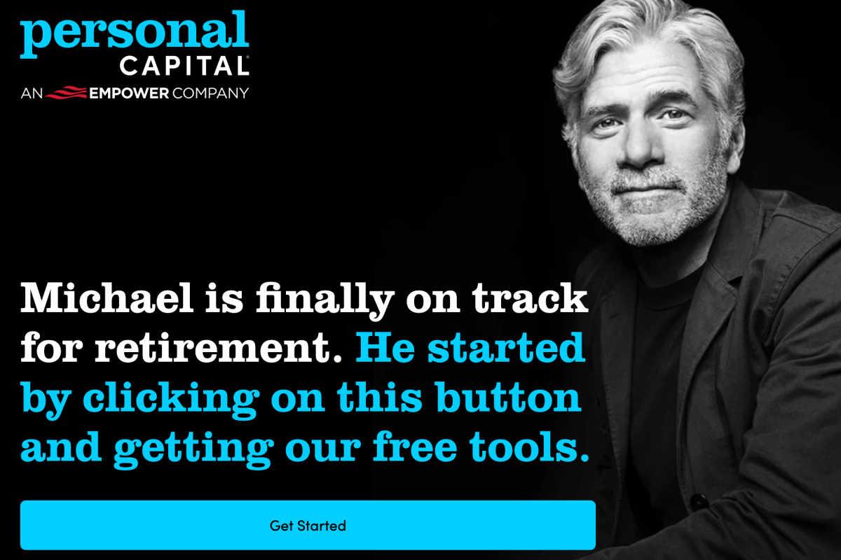 homepage snapshot of Personal Capital app.
