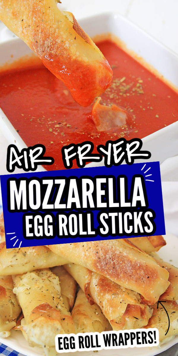 Air Fryer Mozzarella Sticks with Egg Rolls Wrappers {20 Minutes}