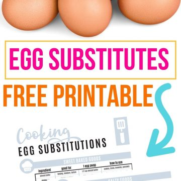 egg substitutes printable