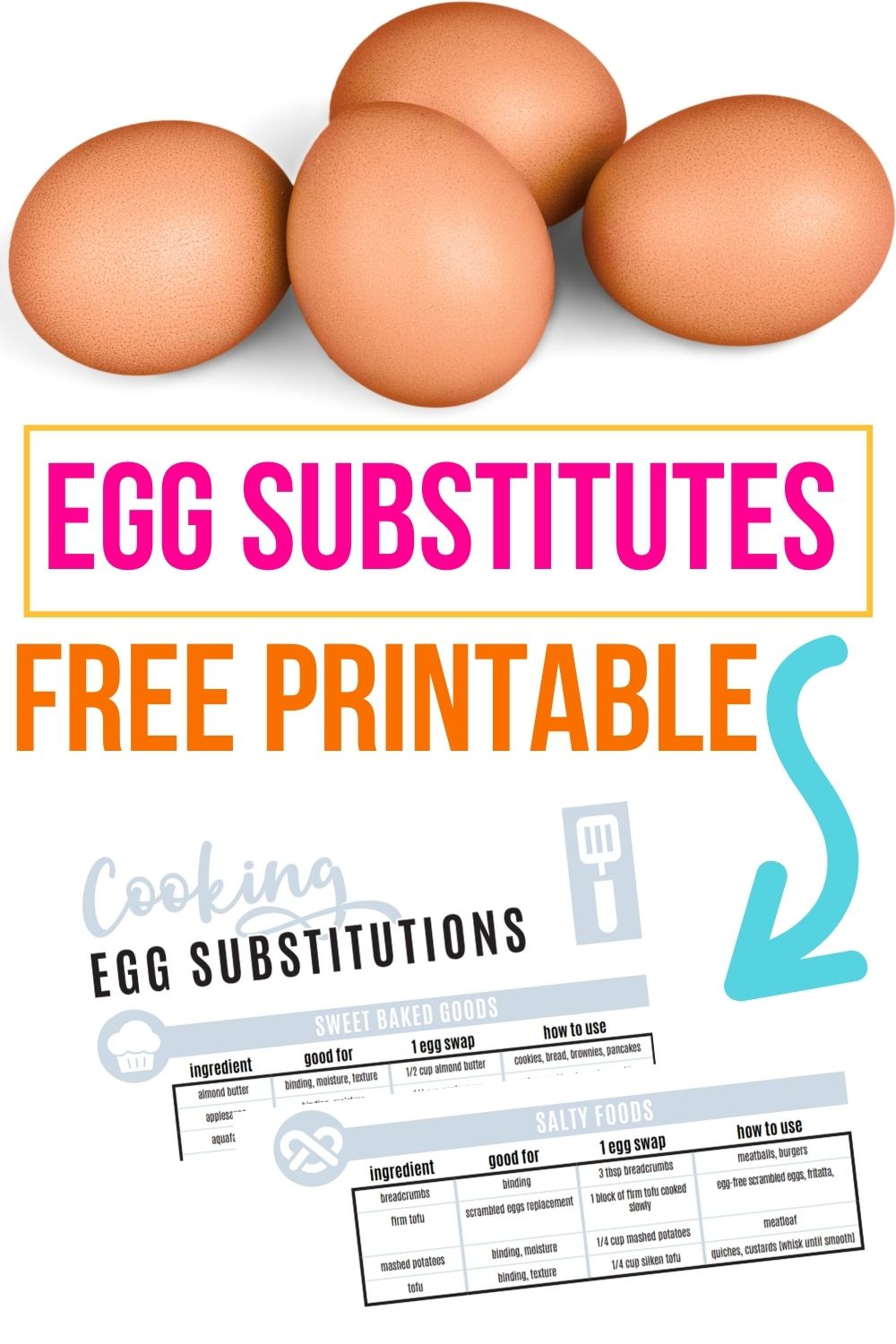 egg substitutes printable.