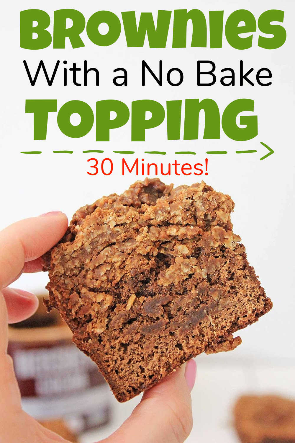 Cookie Brownies w/No Bake Topping {30 Minutes}