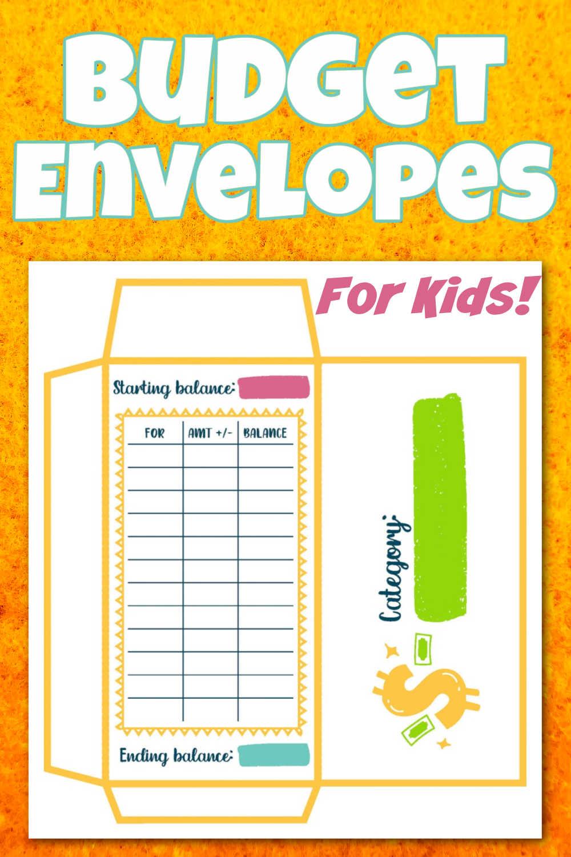Kids Money Envelope Printable Planner