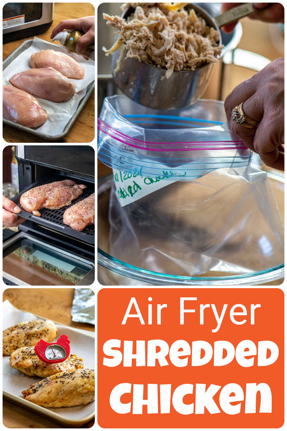 How to Meal Prep Chicken in the Air Fryer  {18 Minutes}