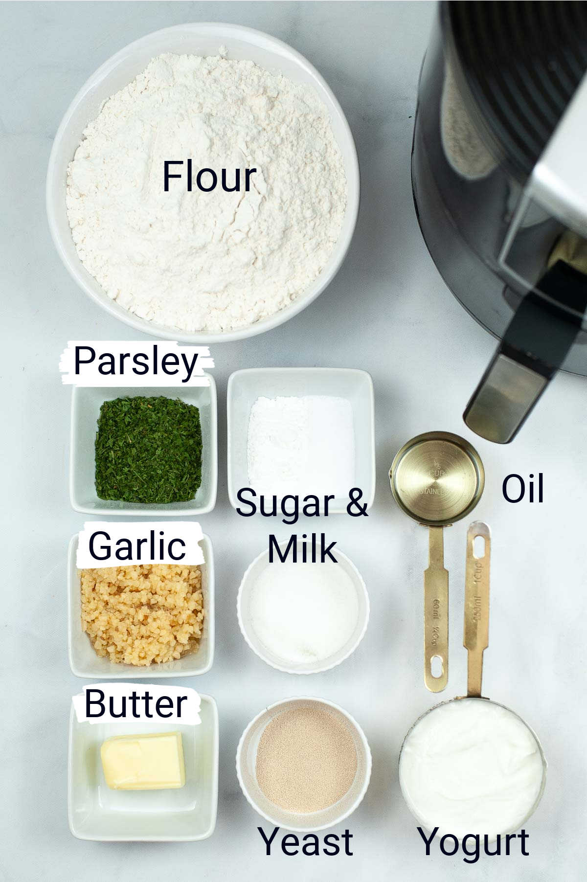 ingredient photo showing everything needed with labels.