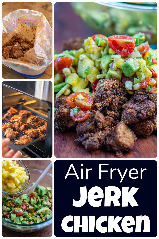 Air Fryer Jerk Chicken {25 Minutes}