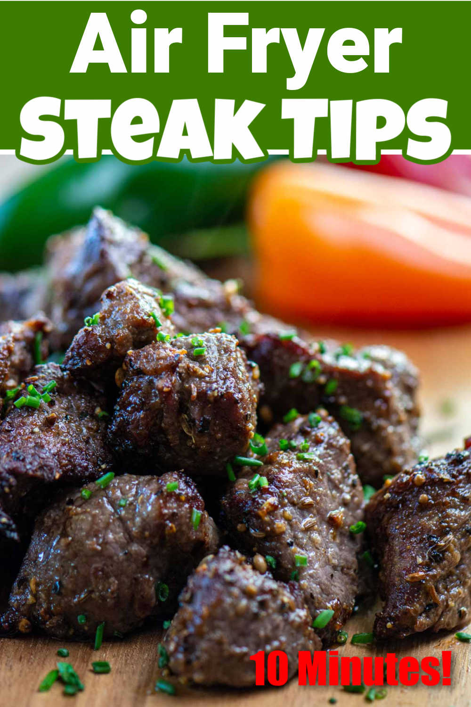 Air Fryer Steak Tips with Creamy Horseradish Sauce {15 Minutes}