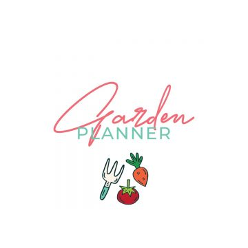 cover page of the garden planner.