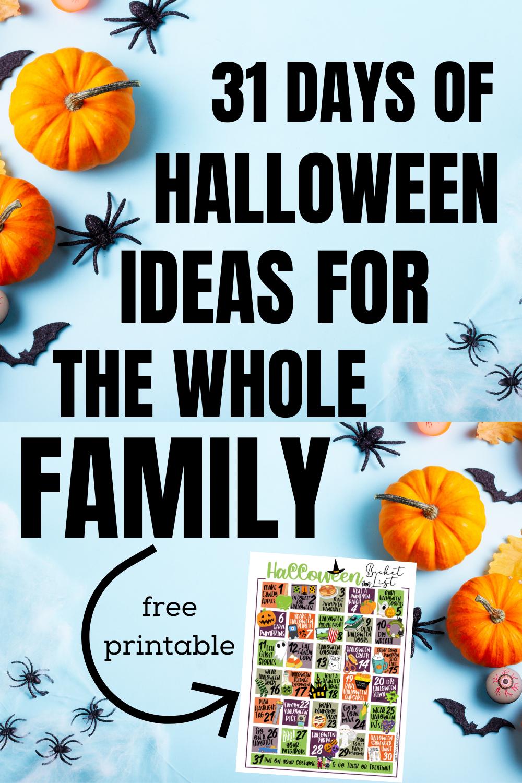 31 Bucket List Ideas for Halloween