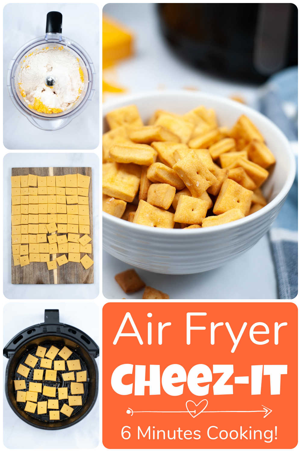 Air Fryer Cheez It {Homemade Cheese Cracker in Six Minutes}