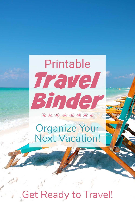 Travel Binder Printable
