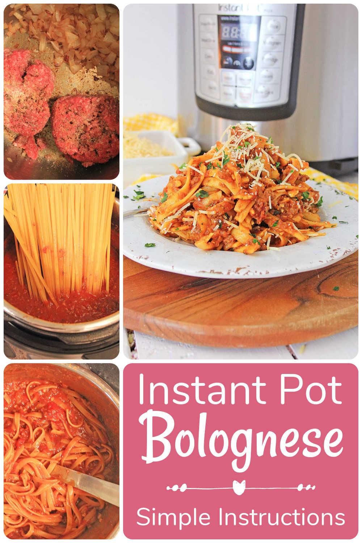 Instant Pot Fettuccine Bolognese {40 Minutes}