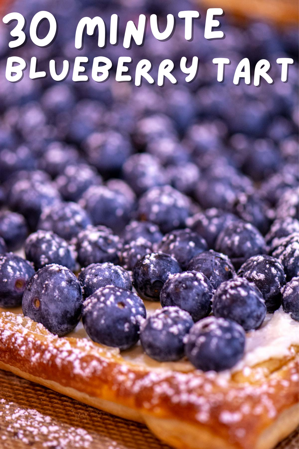 Quick and Easy Puff Pastry Blueberry Tart  {30 Minutes}