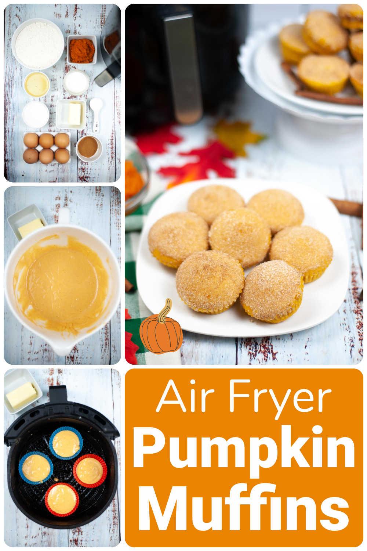 Air Fryer Pumpkin Muffins {15 Minutes}