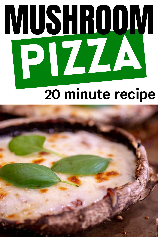 Easy Oven Roasted Portobello Mushroom Pizza + Air Fryer Option {20 Minutes}