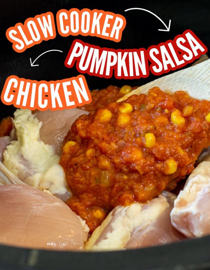 Slow Cooker Pumpkin Salsa Chicken