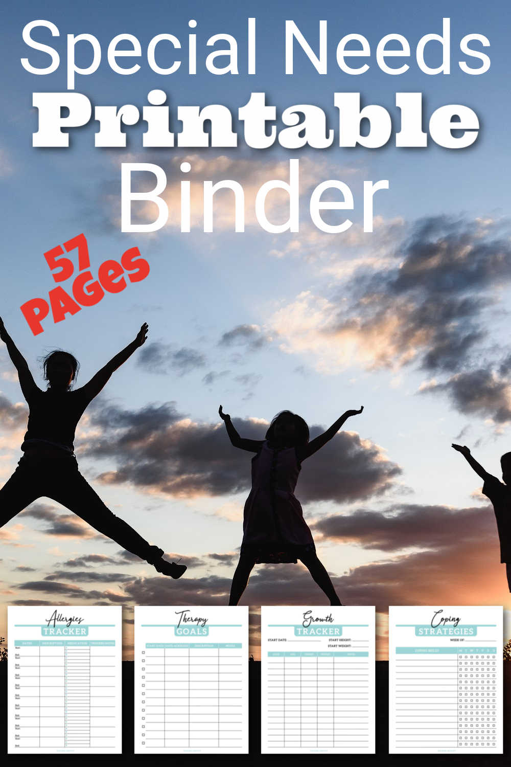Special Needs Medical Planner Printables {57 Pages}