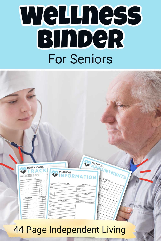 Senior Medical + Wellness Planner Printables {44 Pages}