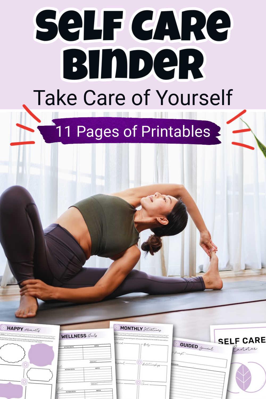 Self Care & Wellness Printable Journal {11 Pages}