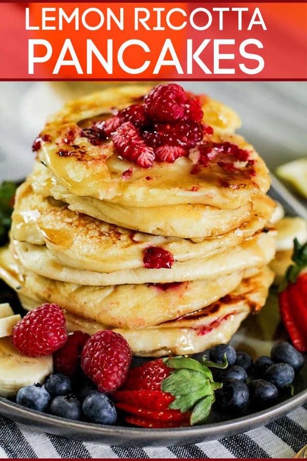Raspberry Lemon Ricotta Pancakes {20 Minutes}