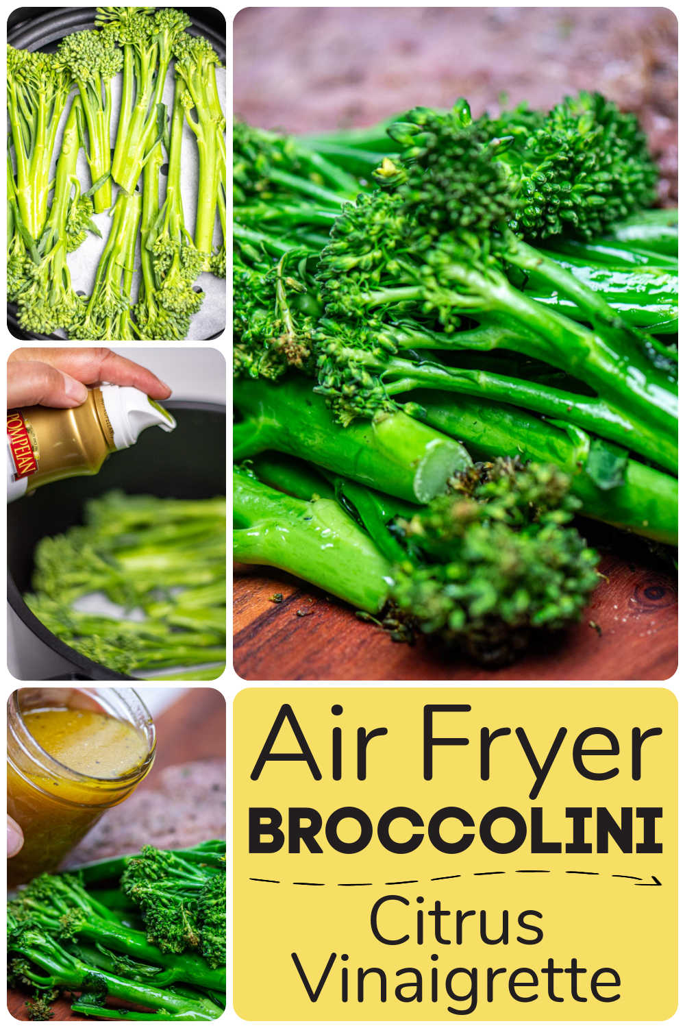 Air Fryer Broccolini or Baby Broccoli {Under 10 Minutes}