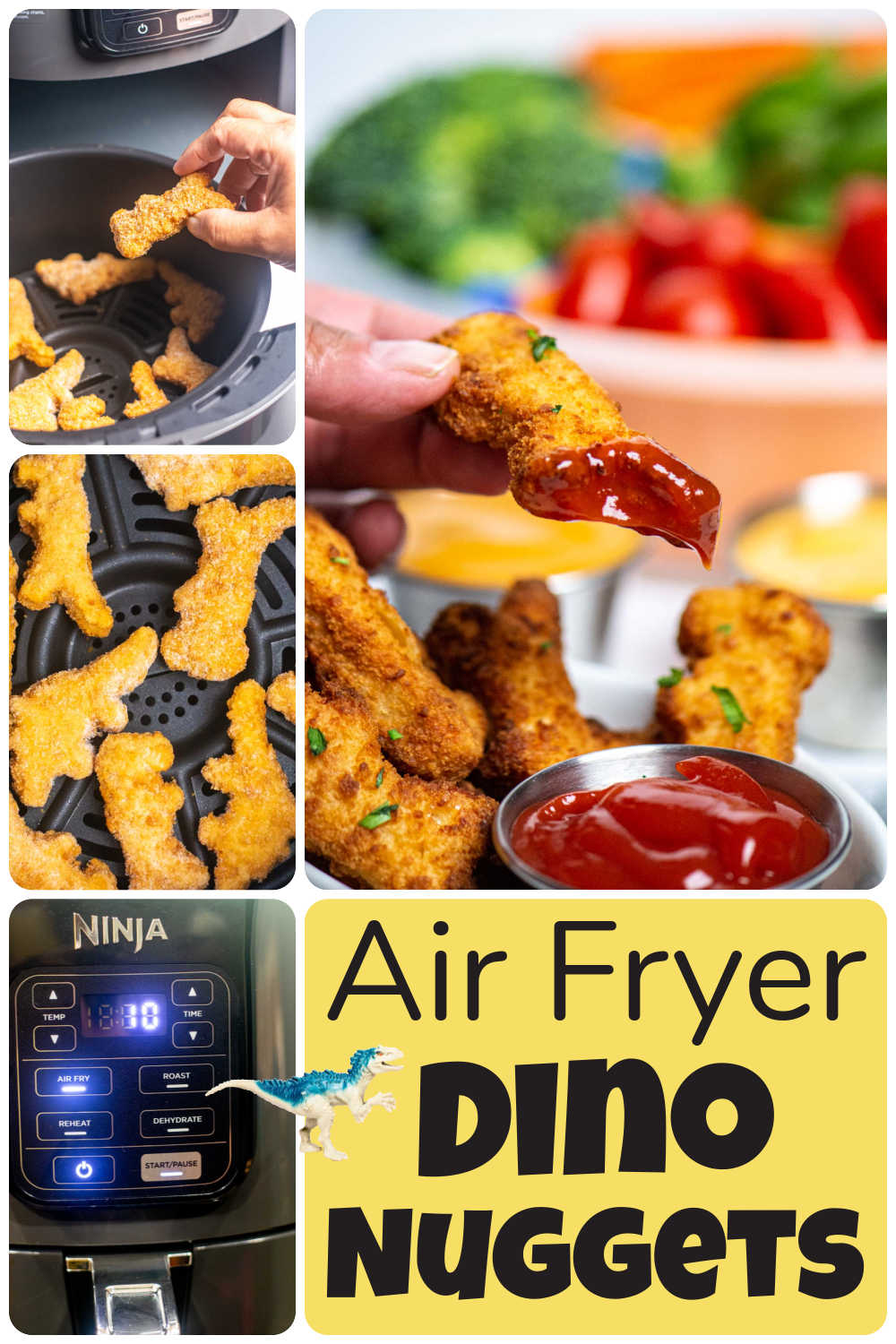 How to Make Dino Nuggets in the Air Fryer {10 Minutes}